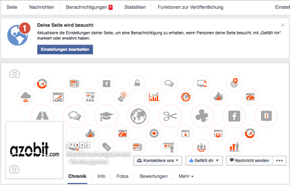 Facebook - Deine Seite wird besucht